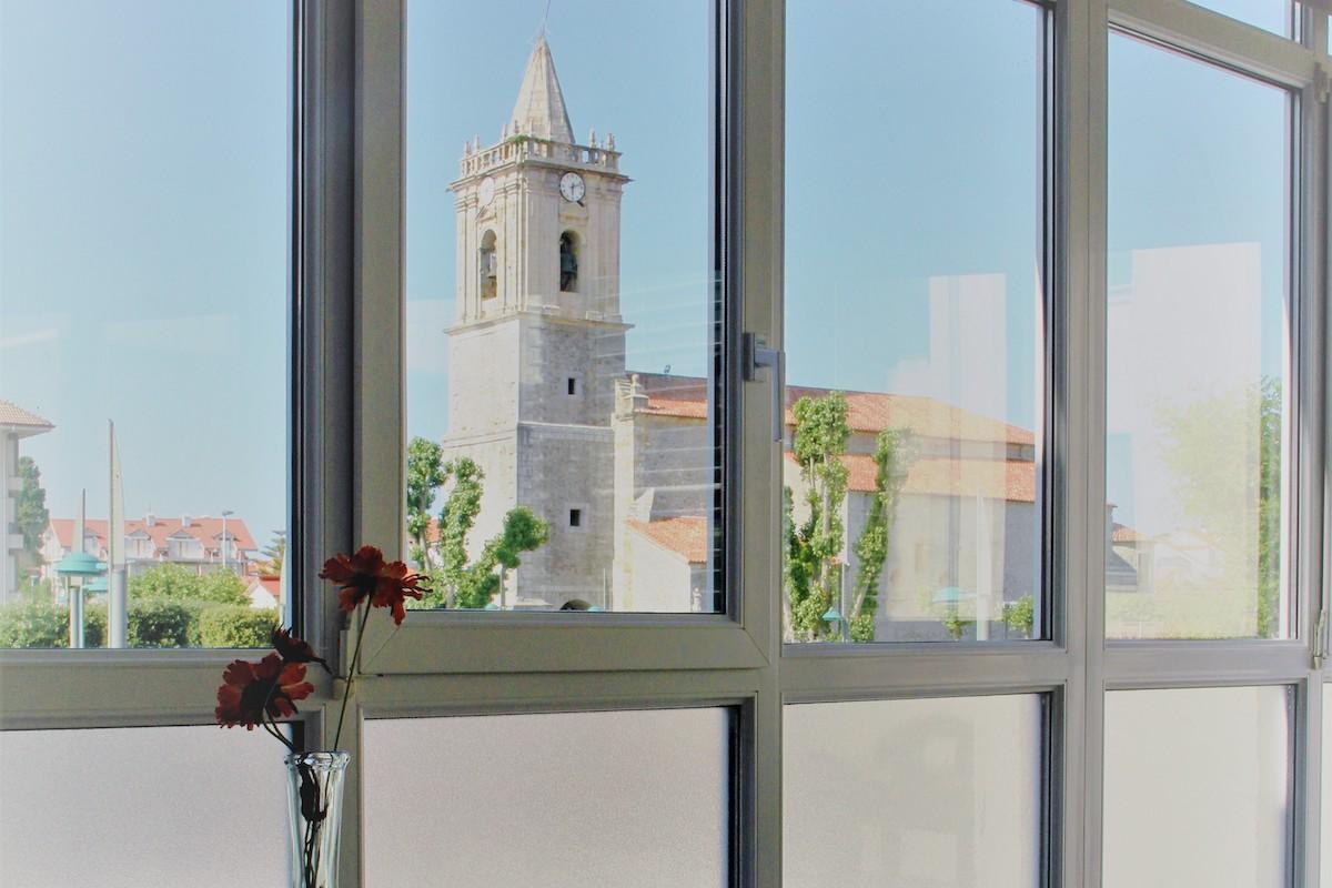vista iglesia desde galeria